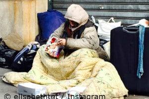 Foto von Obdachlosen durch Elisabeth von Thurn und Taxis
